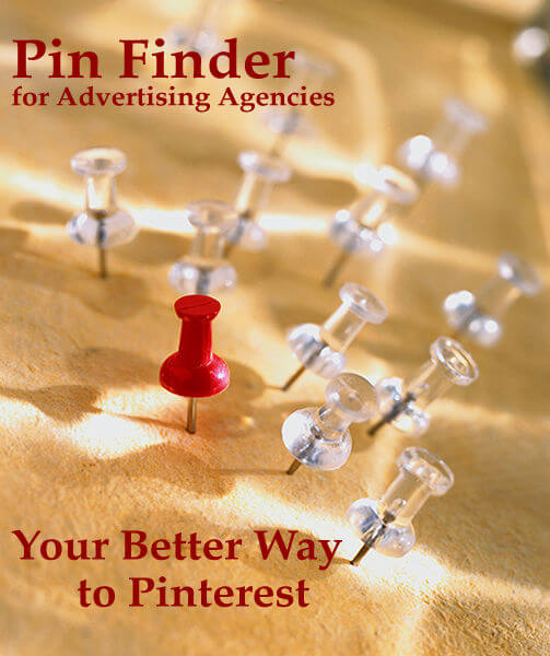 Pin Finder for Ad Agencies - solutions for your clients on Pinterest