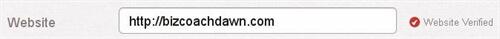 Pinterest website verification