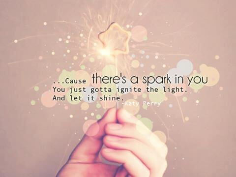 Cause there's a spark in you #dailyabundance
