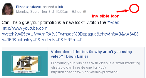 Facebook Invisible Icon